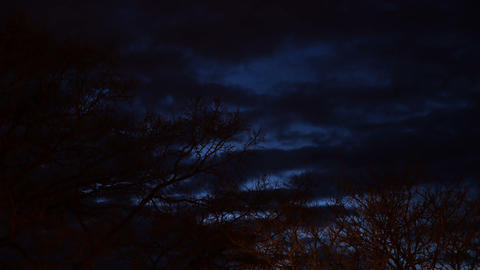 Dark Marine Blue Sky Timelapse Footage