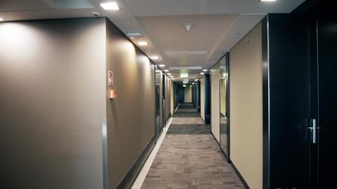 POV walk in a modern hotel Footage