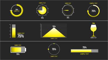 10 Percentage Infographic モーショングラフィックステンプレート