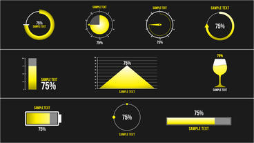 10 Percentage Infographic Motion Graphics Template