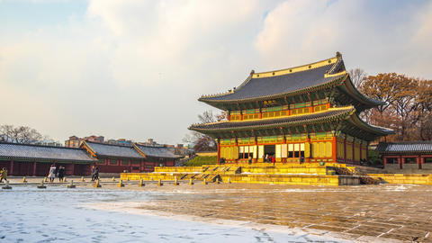 Timelapse video of Changdeokgung Palace in Seoul city, South Korea Time Lapse 4K Live Action