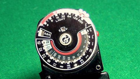 Retro Professional exposure meter Close up Footage