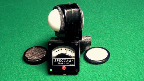 Old Professional exposure meter for light Live Action