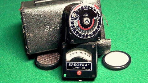 Professional Retro exposure meter for light Live Action