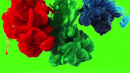 Realistic Ink Color Splash - Part 2 High Quality (Green Screen Footage) Hash Tag Footage