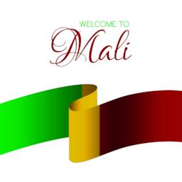 Welcome to Mali. Vector card with national flag of Mali ベクター
