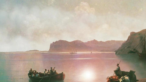 3D Animated Classical Painting HD - Ivan Aivazovsky - Morning On A Sea 1883 Animation