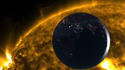 Earth and Solar Flare フォト