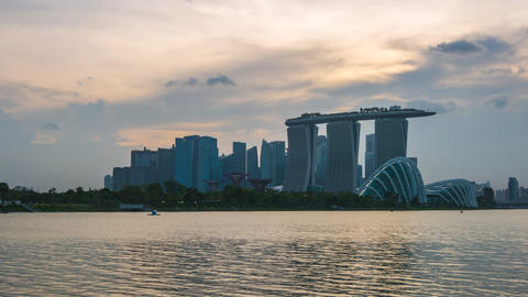 Time Lapse video of Singapore city skyline in Singapore timelapse 4K Footage