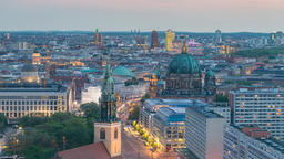 Berlin city skyline day to night timelapse at Berlin Cathedral (Berliner Dom), Footage