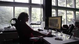 Man Working in the Studio Full HD VJ Footage ビデオ