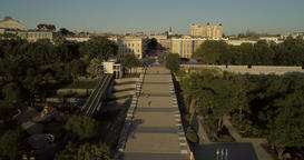 Aerial footage Duc Richelieu statue and Potemkin steps in Odessa Footage