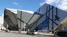 Royal Ontario Museum Toronto Pan Shot stock footage