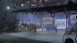 TV Studio with a presenter and audience Footage