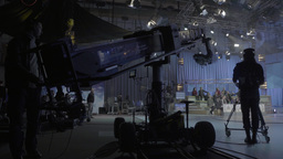 The television in the TV Studio Footage