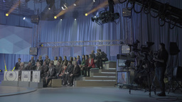 The audience in the TV Studio during the recording of TV broadcast Footage