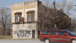 Detroit Abandoned Business 1 Footage