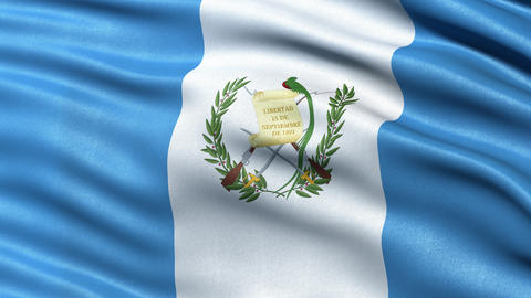 4K Guatemala flag seamless loop Animation