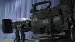 Camera moves in TV Studio during live TV broadcast Footage