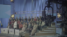 TV Studio during the recording of TV broadcast Footage