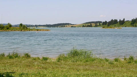Bavarian lake Forggensee in summer Footage