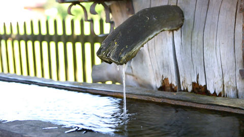 Closeup of a typical Bavarian fountain Footage