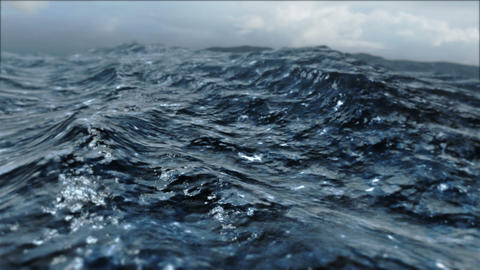 Rough Sea Loop 3D Animation CG動画素材