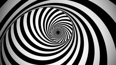 Optical black and white whirling illusion Animation