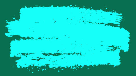 Celeste and Teal Paint Brush Stripes CG動画