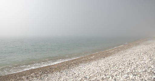 Background from sea surf in mist There is no horizon Live Action