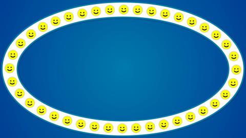 Smile happy blue background ellipse frame Stock Video Footage