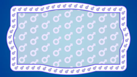 Mars gender male blue background vintage frame CG動画素材