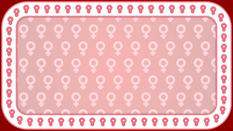 Venera gender female women background rectangle frame Animation