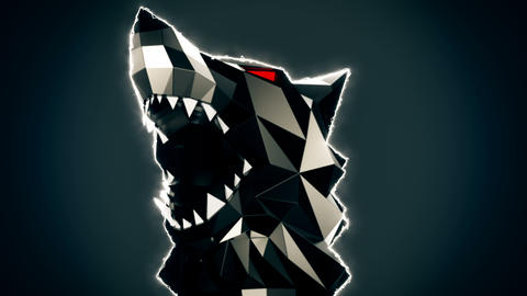 Low Poly Wolf Head VJ Loop GIF