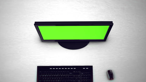 Computer monitor with green screen Animation