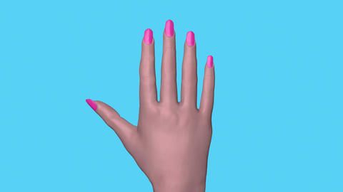 Fingernails growing.Camera zooms in at end. 3d animation Animation
