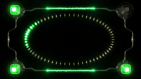 3D technology abstract background Animation