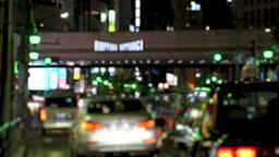 ROPPONGI, TOKYO, JAPAN - CIRCA JUNE 2018 : TAXI and CAR passing at night time Archivo