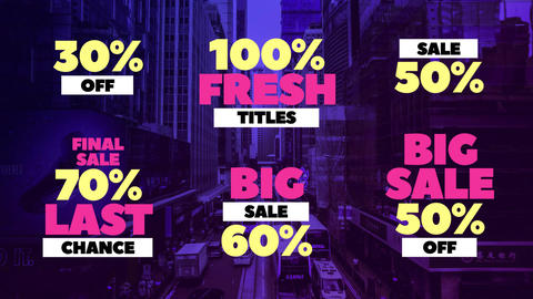 Sale Titles Premiere Pro Template