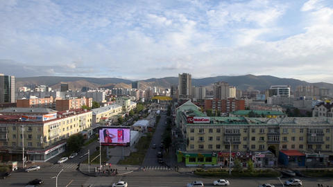 Ulaanbaatar (Ulan Bator) Mongolia - Aerial view city skyline 영상물