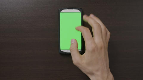 Millennial man hand using app on smartphone menu swiping and sliding gestures on Footage