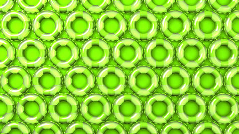 Green swim rings on green background Animation