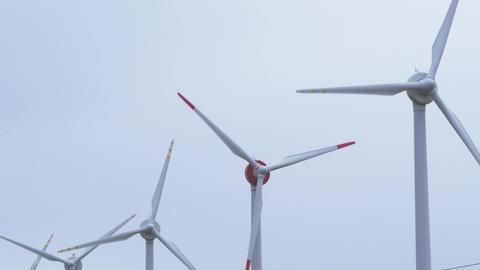 Wind power generation 4K Archivo