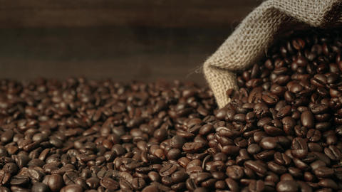 Coffee beans close up Live Action