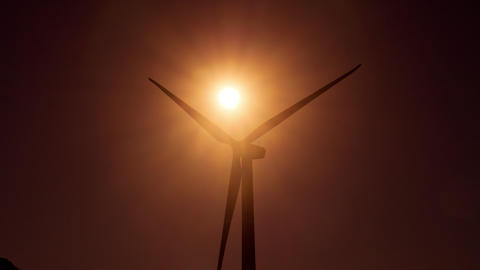 Wind Turbine in a large wind farm in California GIF