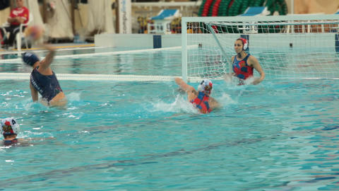Penalty in water polo woman Footage