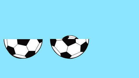 football ball animated as if it were a matryoshka that opens, world soccer GIF