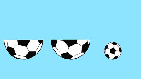 football ball animated as if it were a matryoshka that opens, world soccer Footage