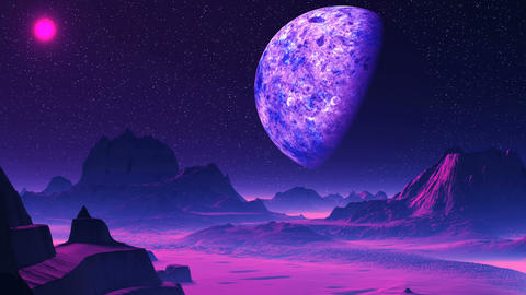 Purple Alien Planet Animation