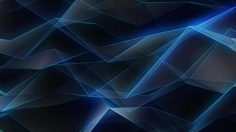 Polygonal Glowing Edges Background Loop Animation